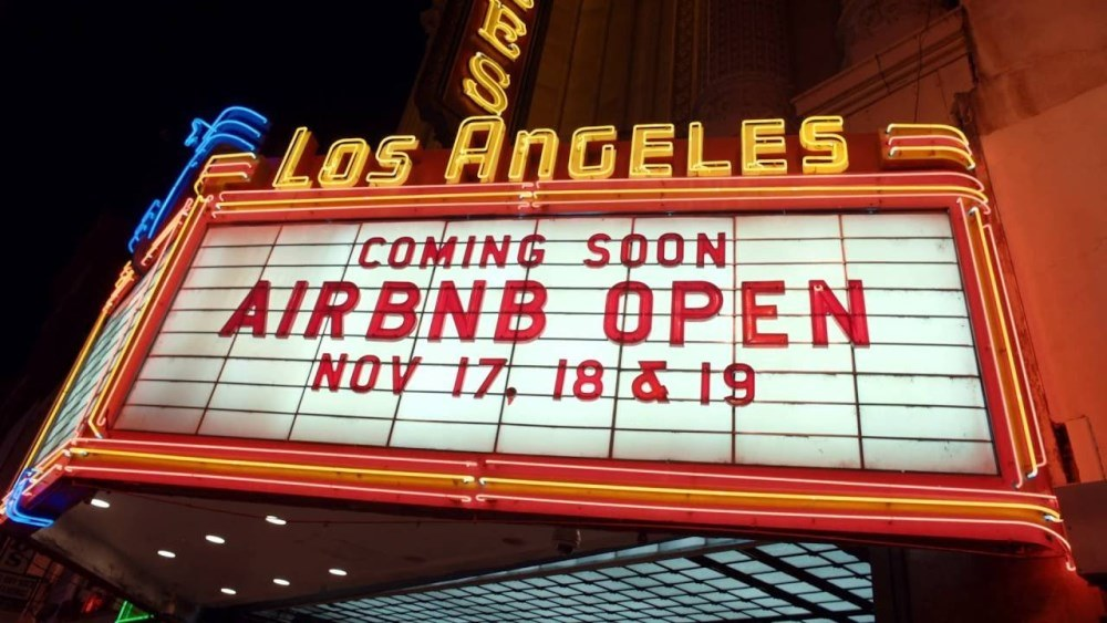 Airbnb open Los Angeles 2016 panneau