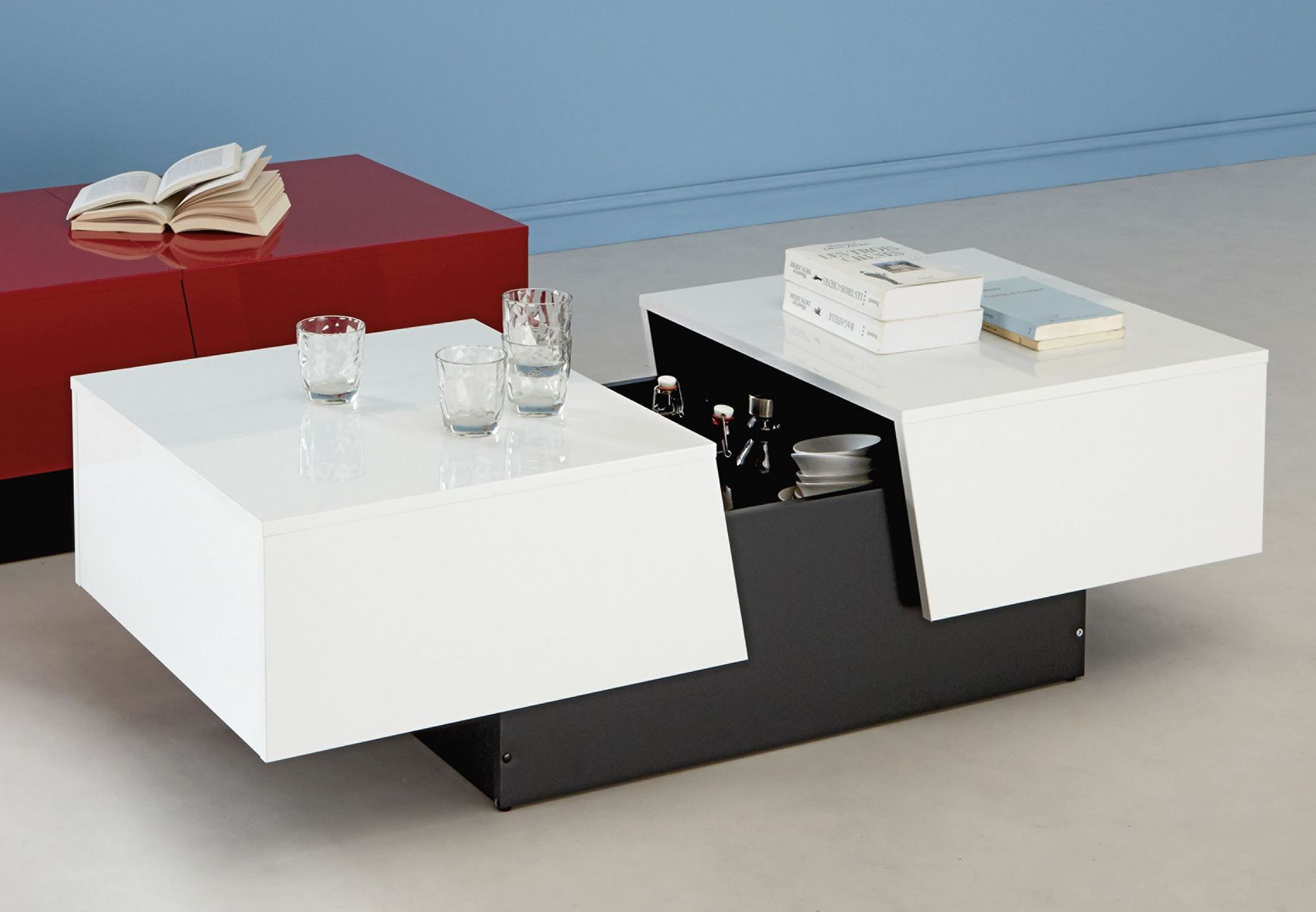 Comment choisir une table basse multifonction for Table bar blanche