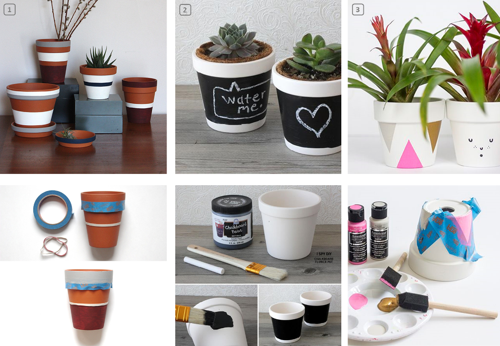 Diy customiser des pots de fleurs en terre bnbstaging - Pot de decoration ...