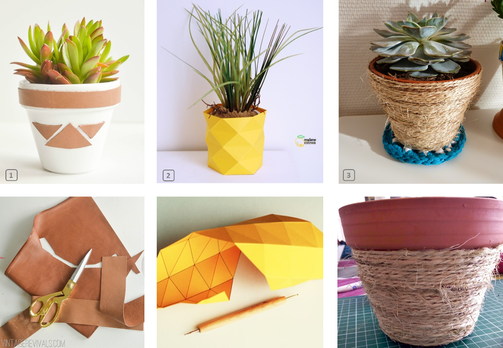 Diy customiser des pots de fleurs en terre bnbstaging for Customiser des boites de conserves