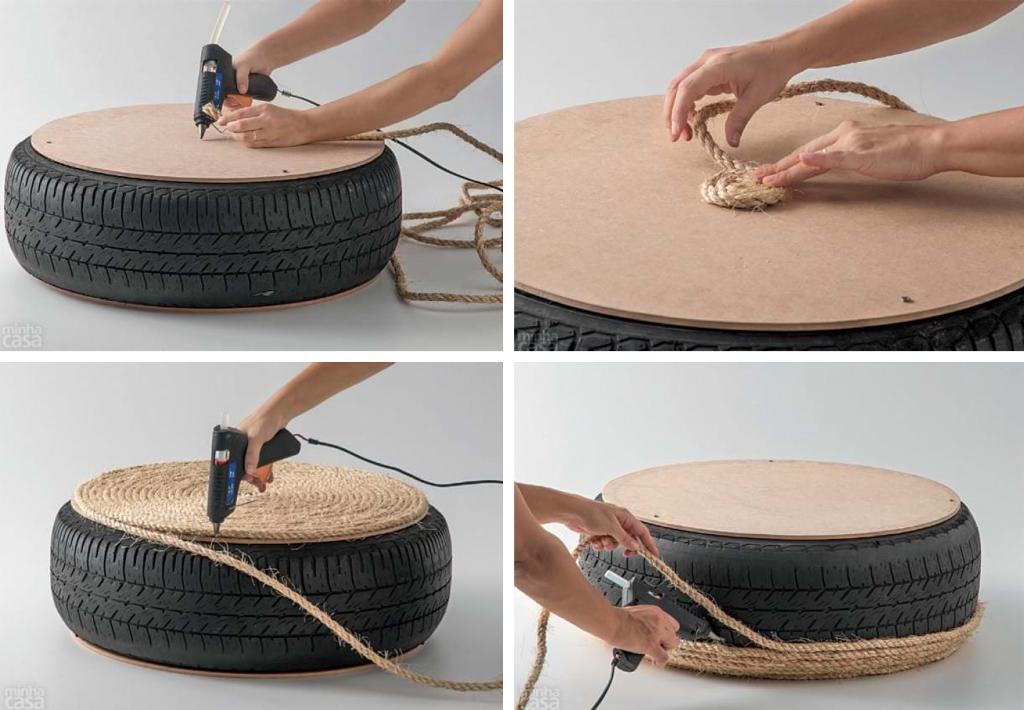 Bien-aimé Un pouf DIY avec pneu et corde - BnbStaging le blog FE72