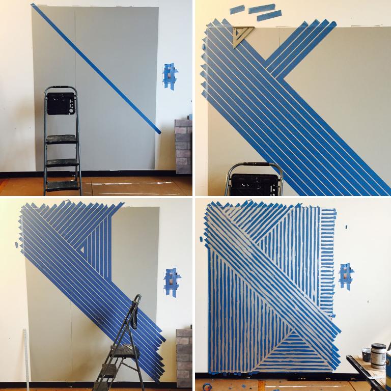 d co murale chic avec peinture trompe l 39 oeil bnbstaging le blog. Black Bedroom Furniture Sets. Home Design Ideas
