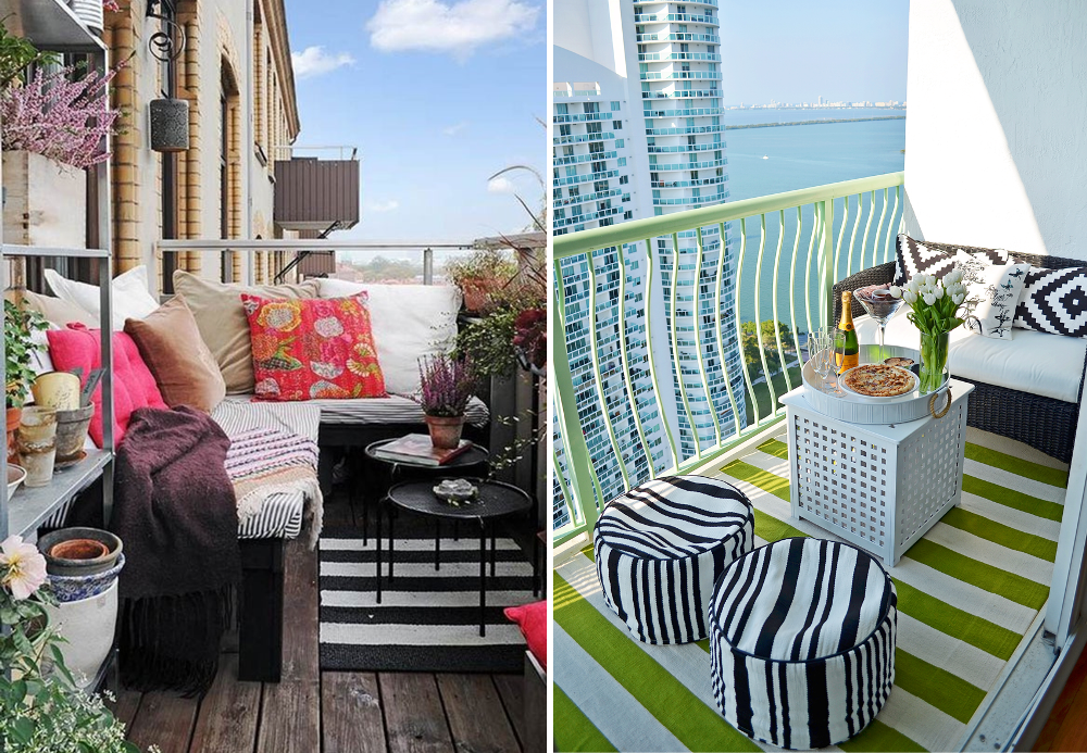 Am nager un balcon dans le style lounge bnbstaging le blog for Salon balcon