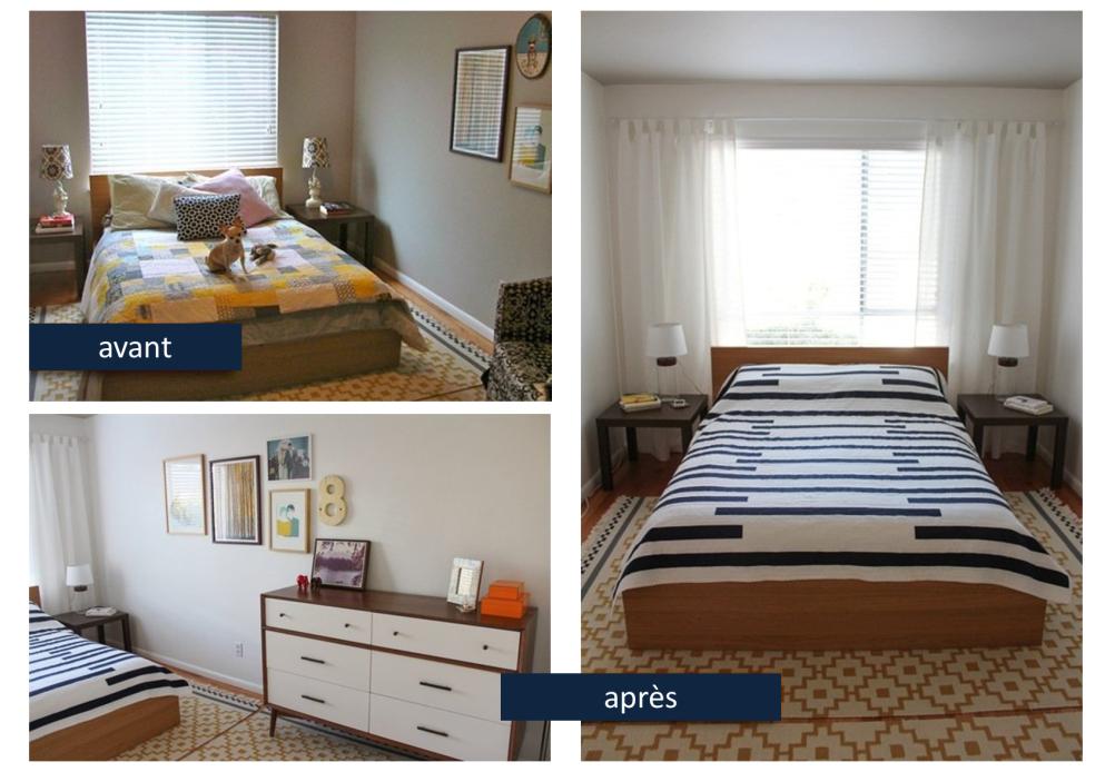 6 conseils pour une chambre plus spacieuse bnbstaging le blog. Black Bedroom Furniture Sets. Home Design Ideas