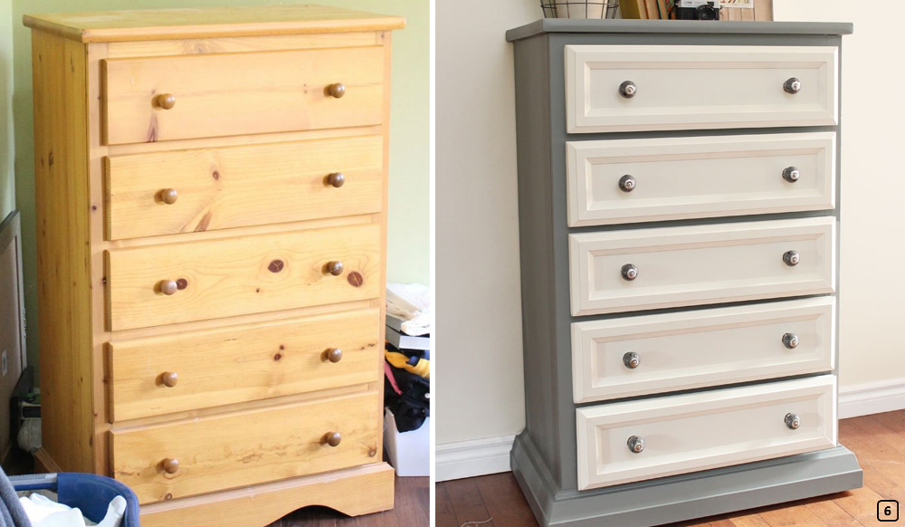 Dresser with mouldings on the drawers