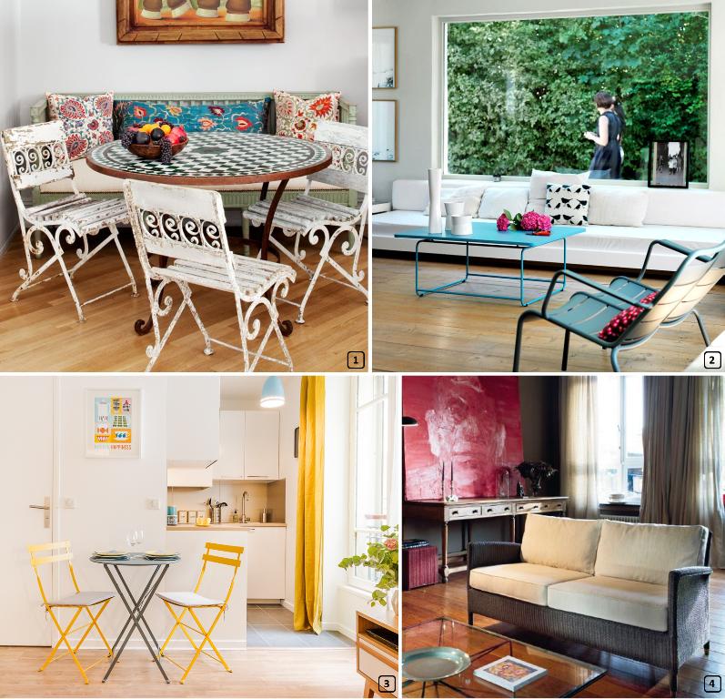 Invitez le mobilier de jardin en intérieur - BnbStaging le blog