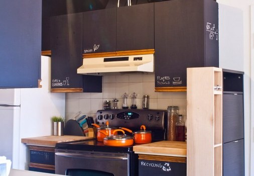 tableau noir ardoise cuisine peinture tableau noir tableau craie cuisine attrayant tableau noir. Black Bedroom Furniture Sets. Home Design Ideas