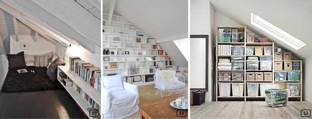 12 id es de rangements sous les combles bnbstaging le blog. Black Bedroom Furniture Sets. Home Design Ideas