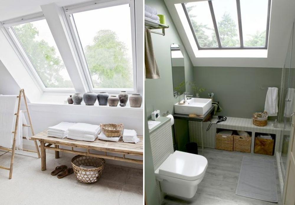 Rangements de salle de bain sous combles - BnbStaging le blog