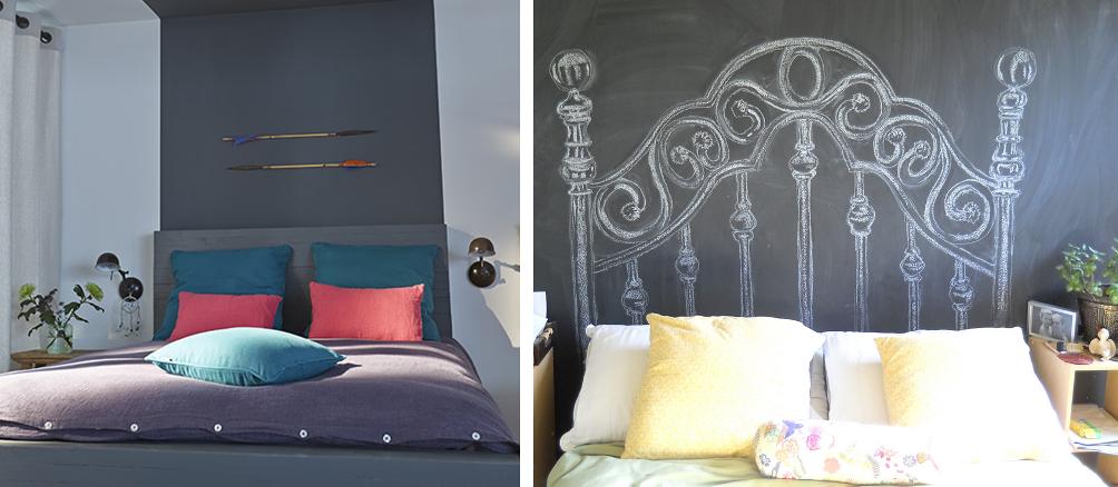 21 t tes de lit originales en diy bnbstaging le blog - Peinture tete de lit ...