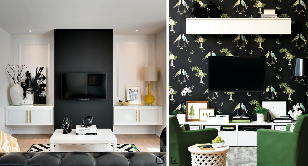 22 id es pour dissimuler la t l vision bnbstaging le blog. Black Bedroom Furniture Sets. Home Design Ideas