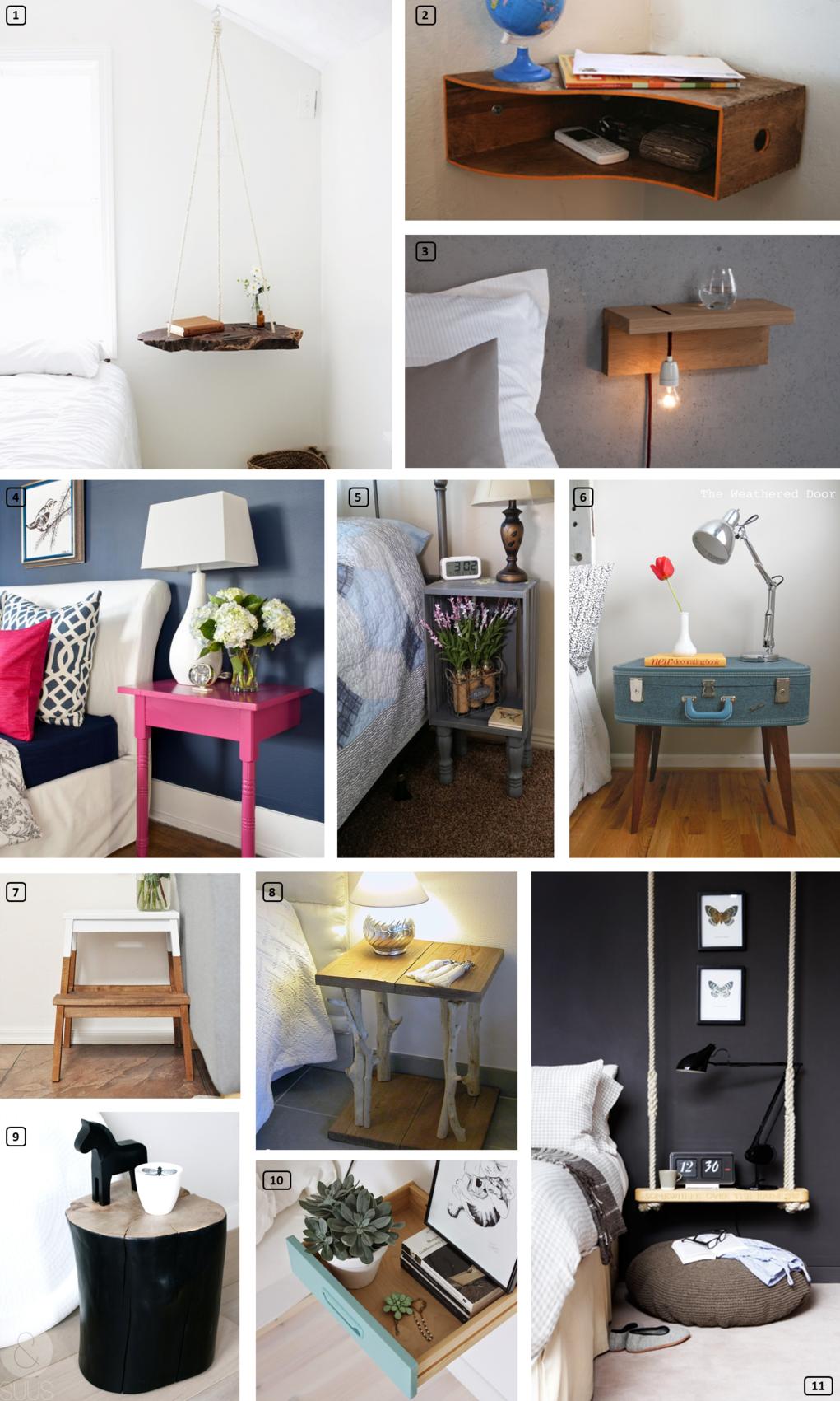 23 tables de chevet originales bnbstaging le blog. Black Bedroom Furniture Sets. Home Design Ideas