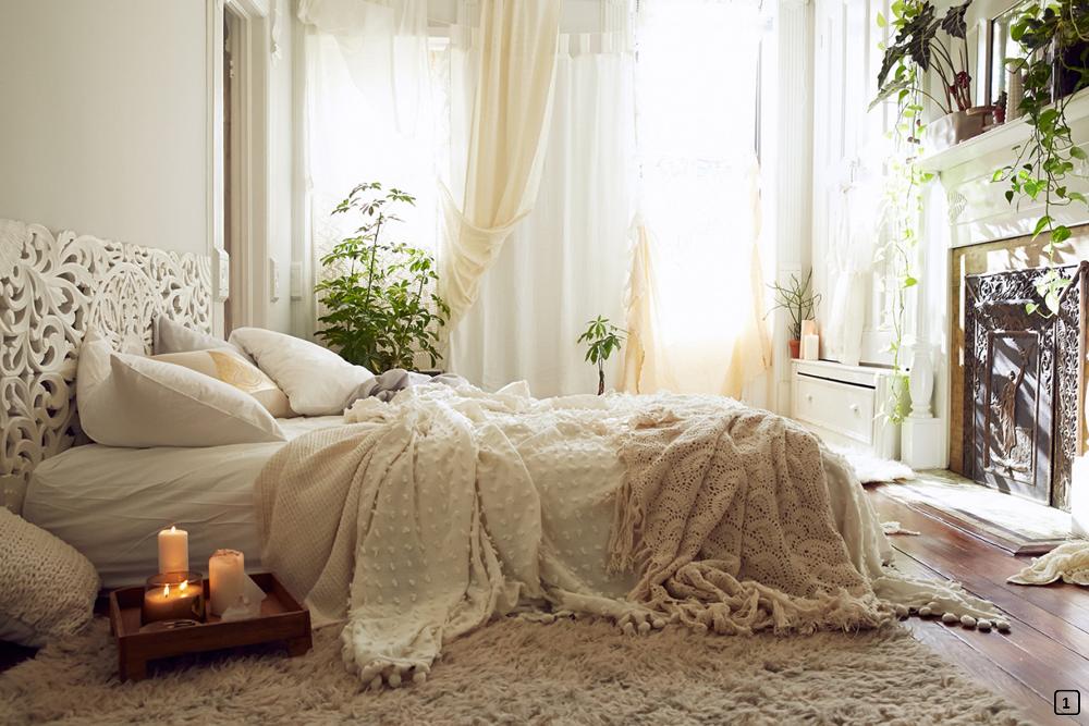 D co boh me chic une chambre romantique bnbstaging le blog - Deco style boheme chic ...