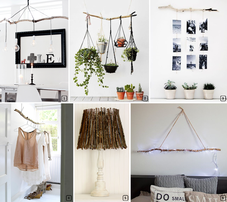 15 id es d co avec des branches en bois bnbstaging le blog. Black Bedroom Furniture Sets. Home Design Ideas