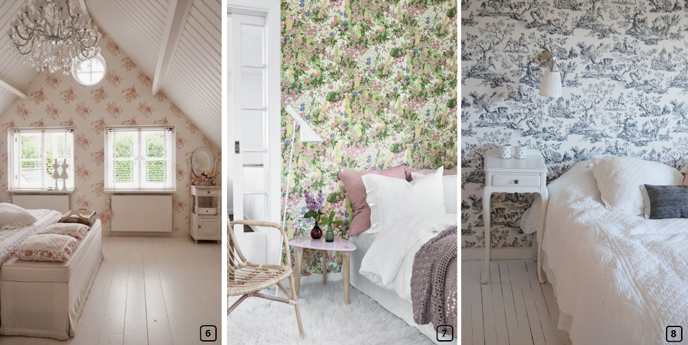 Une chambre style campagne chic en 7 tapes bnbstaging le blog - Papier peint campagne chic ...