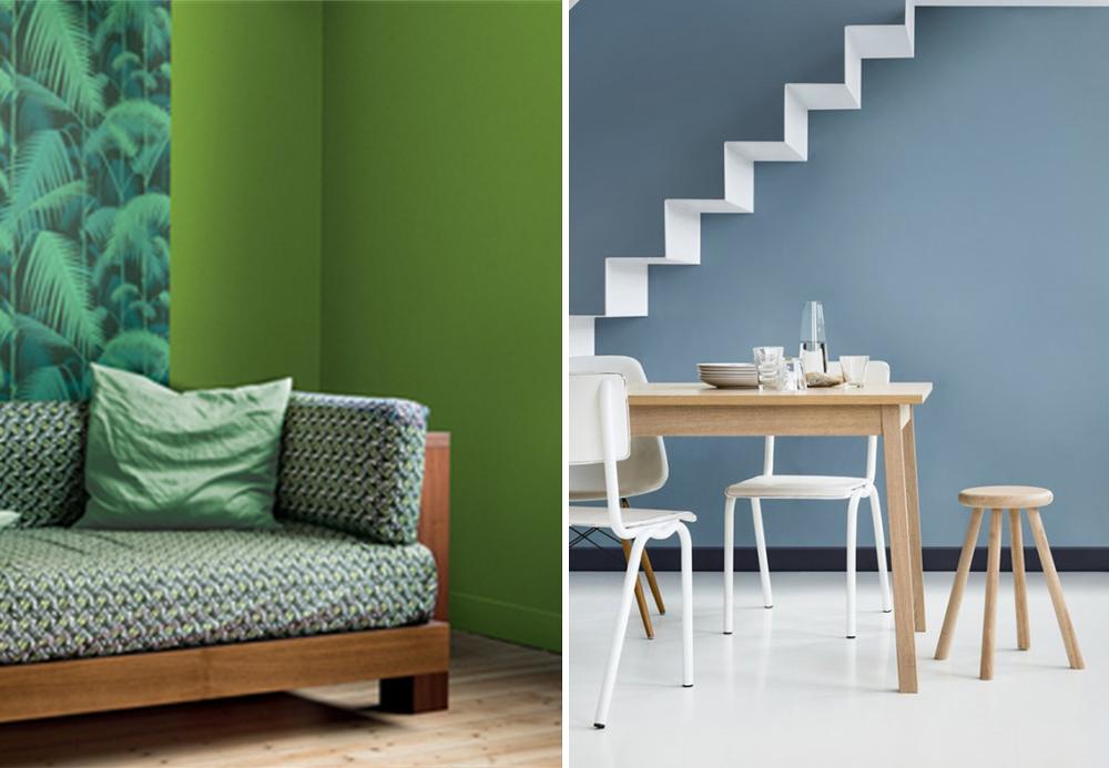 couleur 2017 greenery pantone ou bleu gris dulux. Black Bedroom Furniture Sets. Home Design Ideas