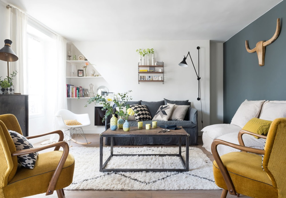 Scandinavian style with curry yellow