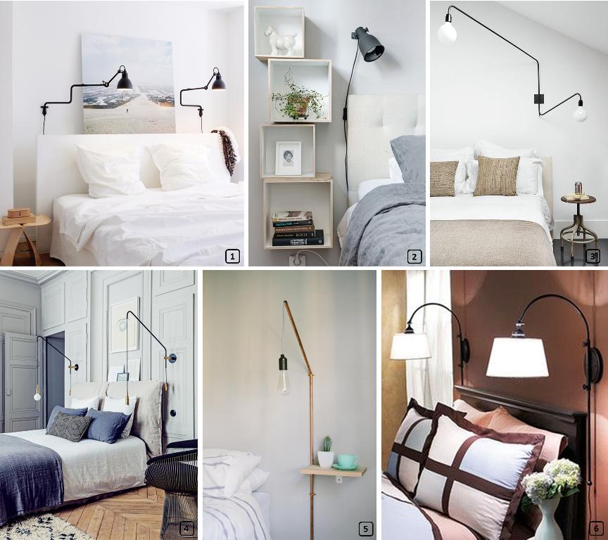 14 lampes de chevet suspendues et murales bnbstaging le blog. Black Bedroom Furniture Sets. Home Design Ideas