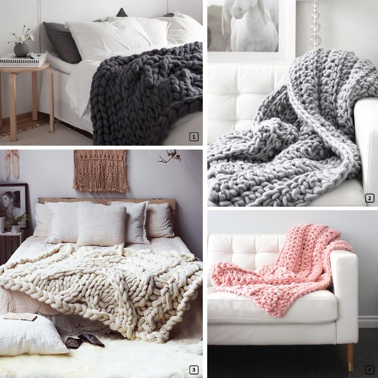 D co en maille xxl le chunky knit bnbstaging le blog - Plaid grosse maille ...