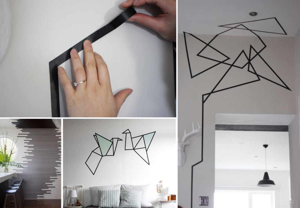 18 id es de masking tape sur murs blancs bnbstaging le blog. Black Bedroom Furniture Sets. Home Design Ideas