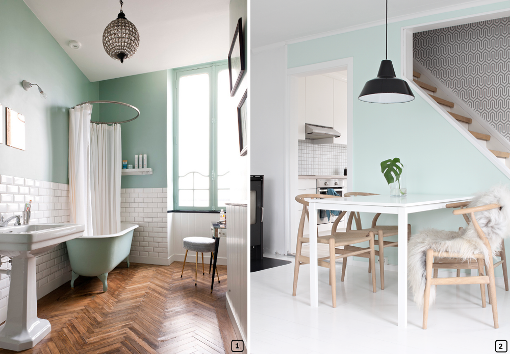 tendance d co la couleur mint vert menthe bnbstaging le blog. Black Bedroom Furniture Sets. Home Design Ideas