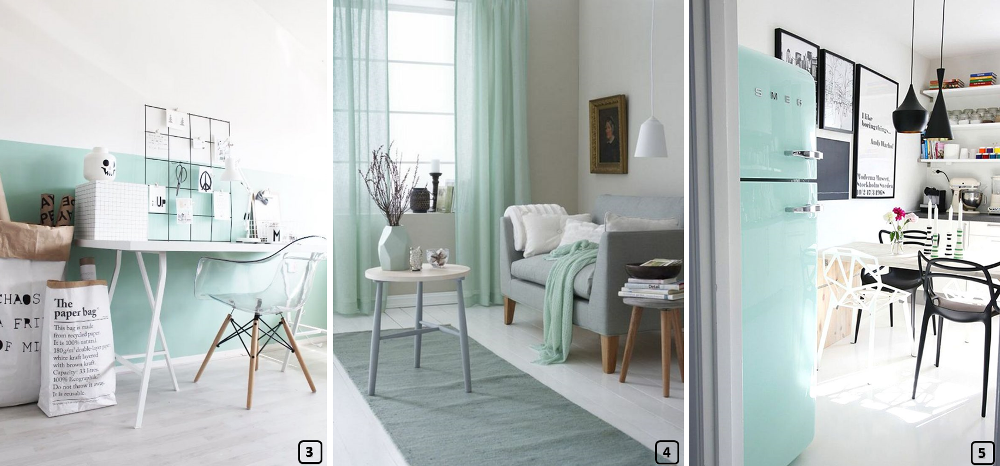 tendance d co la couleur mint vert menthe bnbstaging. Black Bedroom Furniture Sets. Home Design Ideas