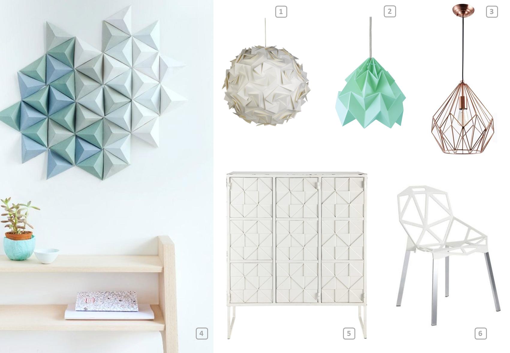 l 39 origami tendance d co printemps 2016 bnbstaging le blog. Black Bedroom Furniture Sets. Home Design Ideas