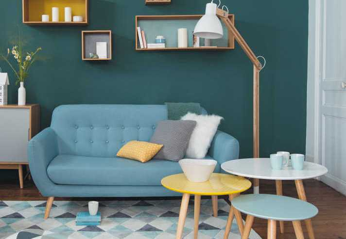 Salon Scandinave Bleu – Chaios.com