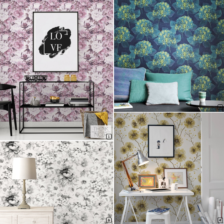 papier peint floral xl 15 mod les bnbstaging le blog. Black Bedroom Furniture Sets. Home Design Ideas