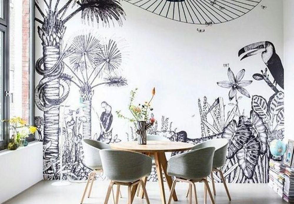 d co jungle papier peint tropical xxl bnbstaging le blog. Black Bedroom Furniture Sets. Home Design Ideas