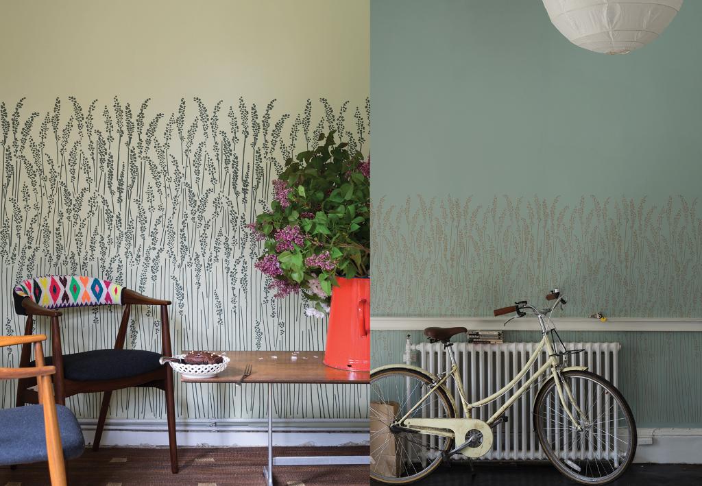 Un papier peint champ tre dans le style anglais bnbstaging le blog - Bleu farrow and ball ...