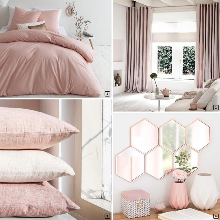 Deco Chambre Rose Poudré : Le rose poudré blush couleur été bnbstaging