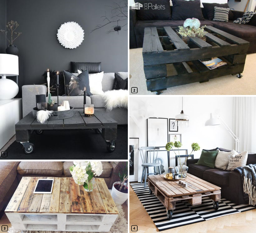 une table basse en palettes pour votre location. Black Bedroom Furniture Sets. Home Design Ideas