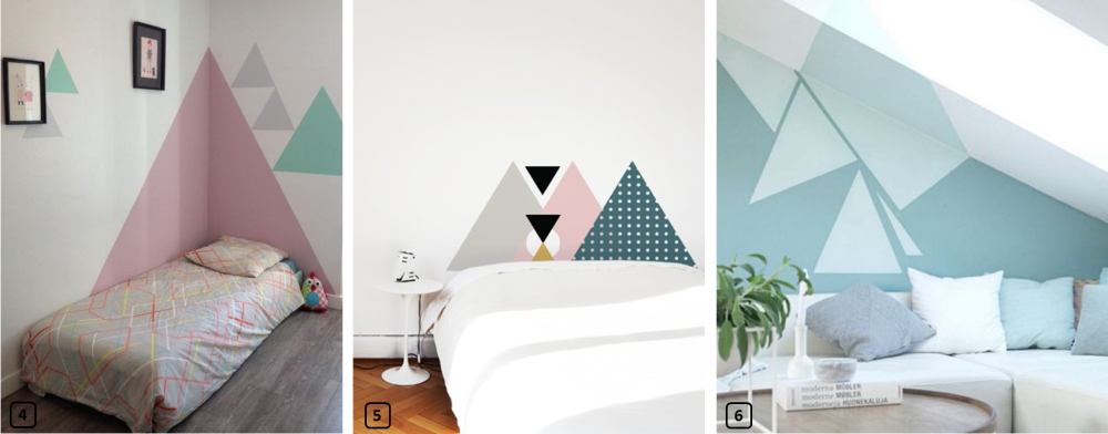 les triangles tendance d co pour votre location bnbstaging le blog. Black Bedroom Furniture Sets. Home Design Ideas
