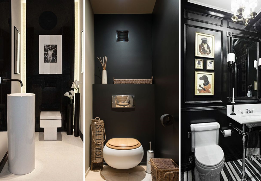 20 wc l gants avec une d coration noire bnbstaging le blog. Black Bedroom Furniture Sets. Home Design Ideas