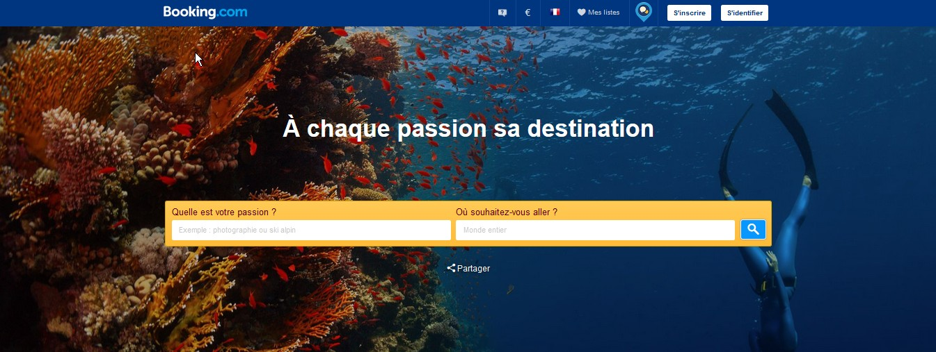 Site booking.com capture d'écran