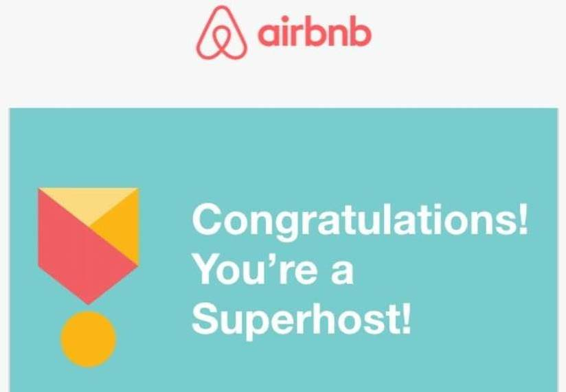 Badge de superhost airbnb