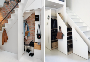 Dressing sous marches d'escaliers - BnbStaging le blog