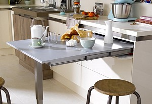 Table escamotable en cuisine, Leroy Merlin